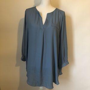 Sami & Jo NEW blue blouse plus size women's 2X